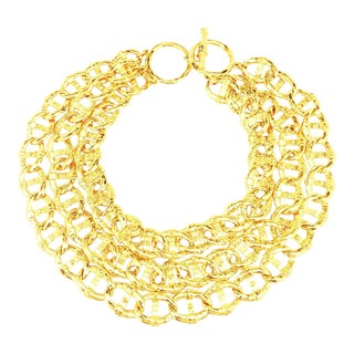Multi-Chain Runway Choker Necklace by Fendi For Sale