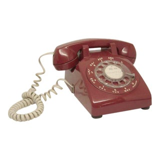 Western Electric Red Rotary Phone