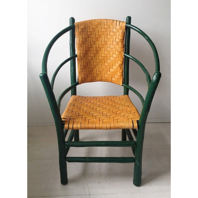 Unique Vintage Old Hickory Chair - Andrew Jackson 3 Hoop Style Chair Signed  - Image 2 - Unique Vintage Old Hickory Chair - Andrew Jackson 3 Hoop Style Chair