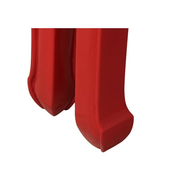 Ming Style Red End Tables - a Pair For Sale - Image 5 of 6
