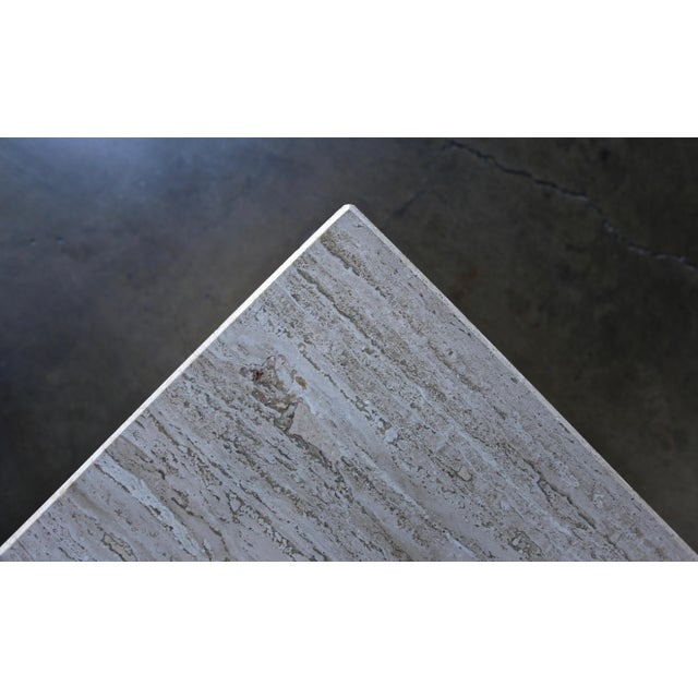 Stone Travertine Pedestal or Side Table, Circa 1975 For Sale - Image 7 of 12