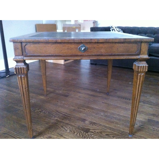 Tomlinson Leather Top Game Table - Image 2 of 6