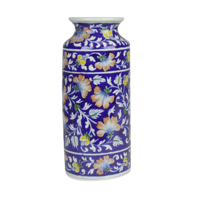 Navy Jaipur Vase - Image 1 of 5