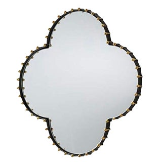 Arteriors Home Elena Quatrefoil Brass Mirror For Sale
