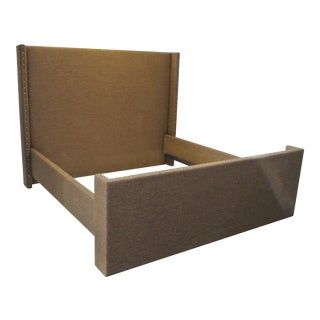 Upholstered King Headboard & Footboard with Corral