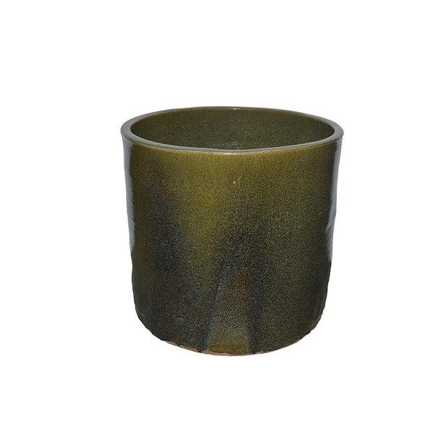 Contemporary Artisan Series Glazed Terra Cotta Planter For Sale - Image 3 of 4