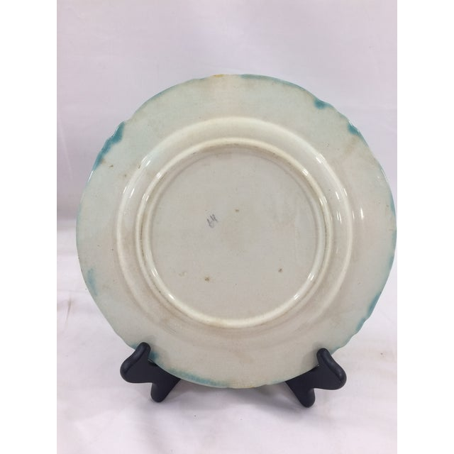 French Majolica Asparagus Plates- Set of 4 For Sale - Image 5 of 6