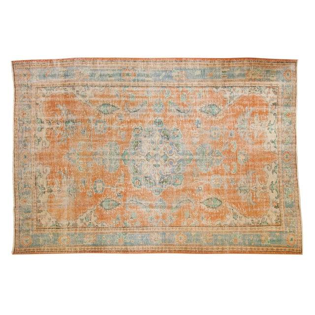 "Vintage Distressed Oushak Carpet - 6'4"" X 9'3"" For Sale - Image 13 of 13"