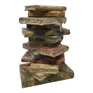 French Book Sculpture For Sale