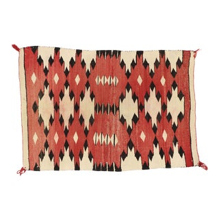Native American Antique Kilim Rug With Navajo Two Grey Hills Style - 02'05 X 03'06 For Sale