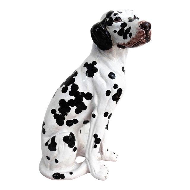 Mid-Century Modern Italian Dalmatian Dog Statue For Sale