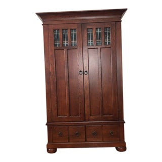 Hooker Wooden Entertainment Center For Sale