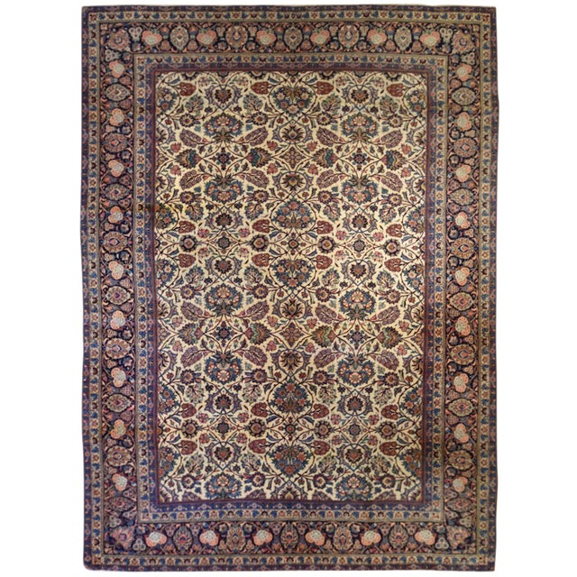 "Persian Kashan Rug 8'6"" x 11'10"" For Sale"
