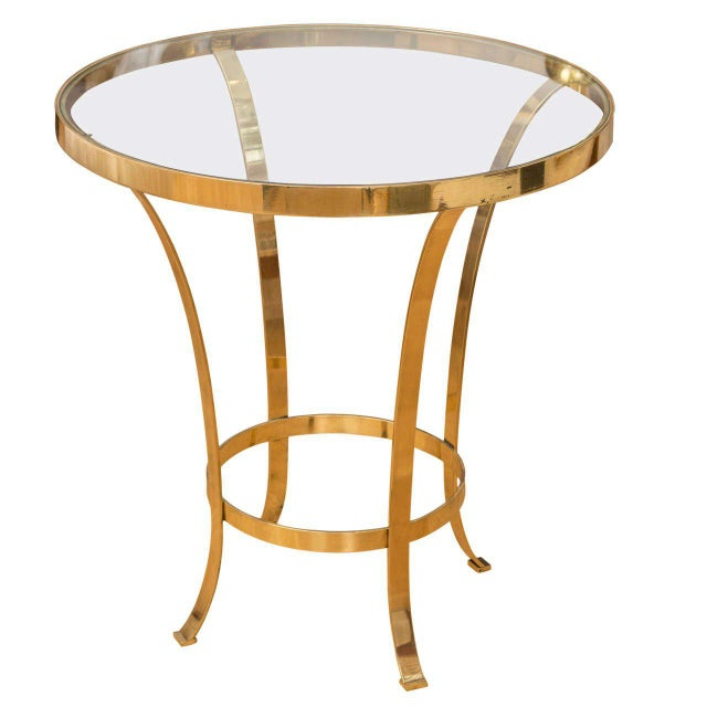 Metal Polished Brass Occasional Table For Sale - Image 7 of 7