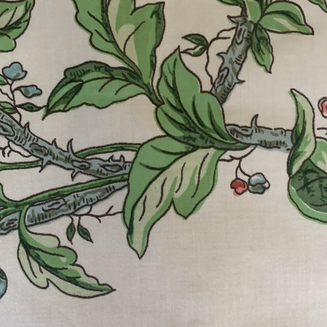 Brunschwig and Fils Flowering Tree Cotton Fabric- 4 Yards For Sale In New York - Image 6 of 7