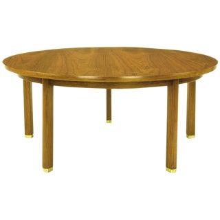 Uncommon Edward Wormley Five-Leg Walnut Coffee Table for Dunbar For Sale