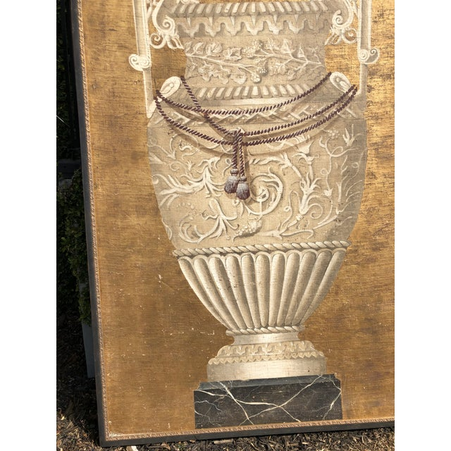 Brown Large Jacques Lamy Urn Painting For Sale - Image 8 of 13