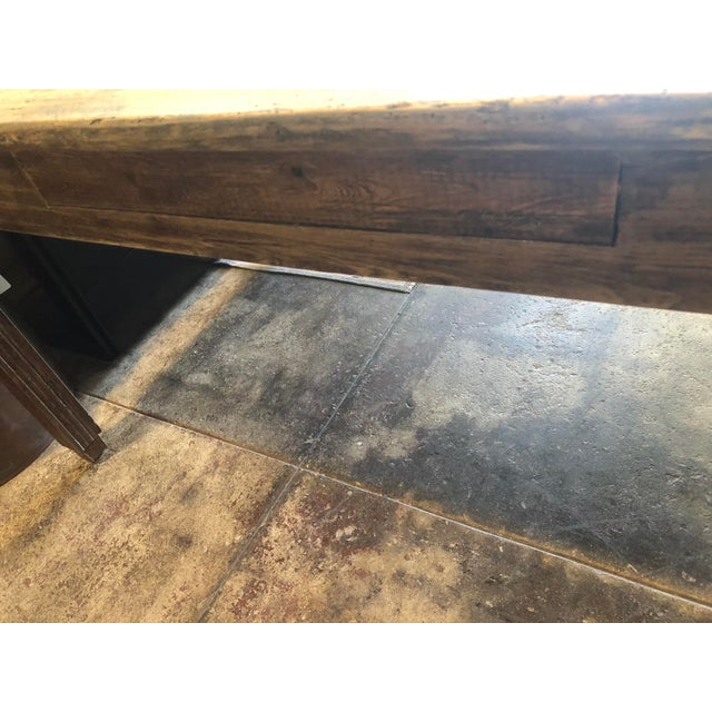 Wood Antique French Farm Table For Sale - Image 7 of 12