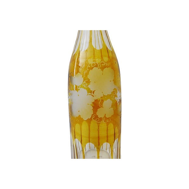 Bohemian Overlay Crystal Decanter For Sale - Image 5 of 7