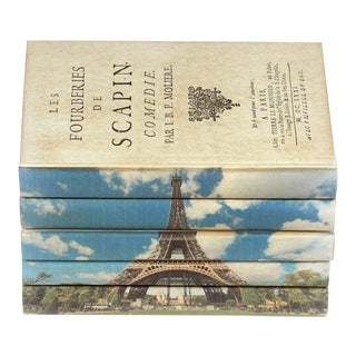 Eiffel Tower Books - Set of 5