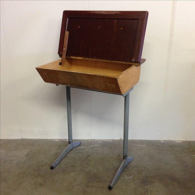 Vintage French Child's School Desk - Image 6 of 7