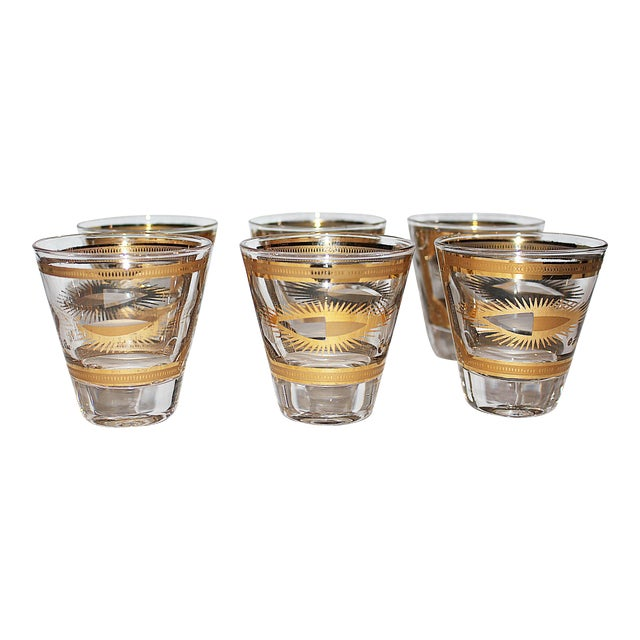 Fred Press Gilded Double Shot Glasses - Set of 6 - Image 1 of 6