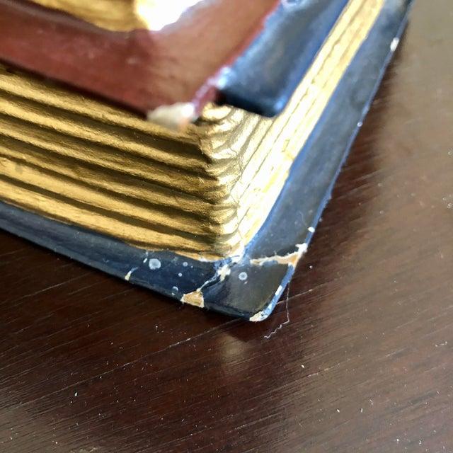 Paper Trompe l'Oeil Papier Mache Stacked Books Tissue Box Cover For Sale - Image 7 of 9