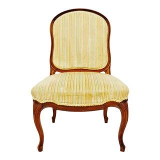 Vintage French Provincial Velvet Upholstered Side Chair For Sale