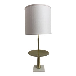 Modern Brass & Marble Table Lamp For Sale