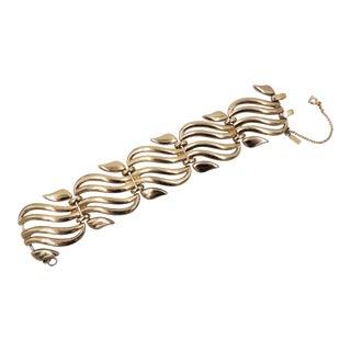 Monet Goldtone Open Link Bracelet, 1954 For Sale