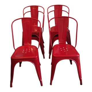 Tolix Red Stacking Chairs - Set of 6