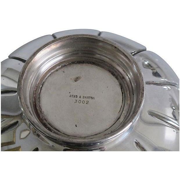 Nesting Silver Lotus Candleholder & Bowl - Image 4 of 4