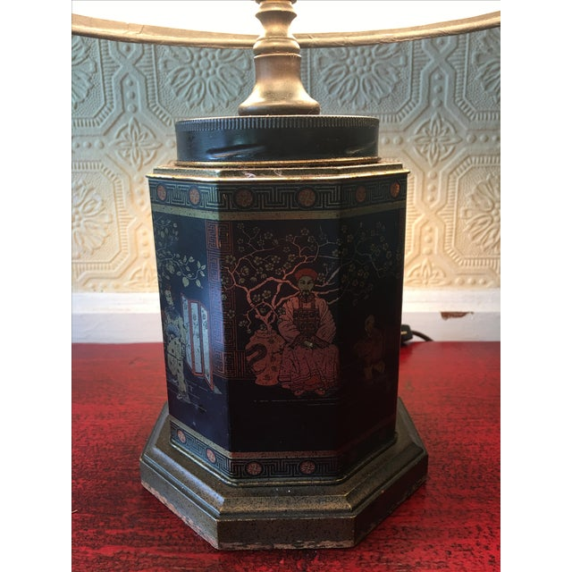 Early English Tea Canister Lamp For Sale - Image 6 of 6