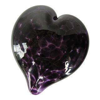 Blown Art Glass Purple Heart For Sale