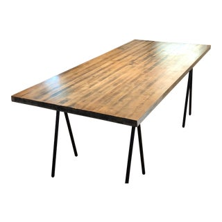 Butcher Block Dining Table For Sale