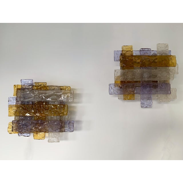 Pair of Murano Glass Sconces by Venini. Italy, 1970s For Sale - Image 6 of 12