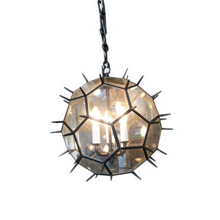 Black Spiky Sea Mine Window Chandelier For Sale