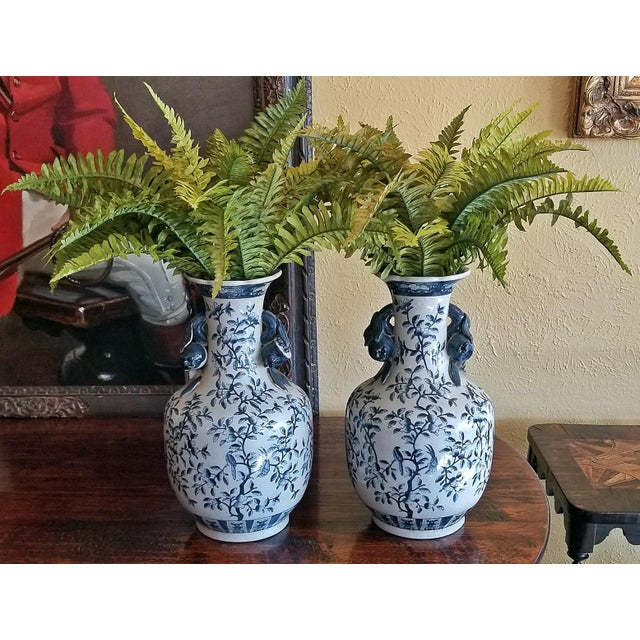 19c Pair of Large Staffordshire Ironstone Floor Vases For Sale In Dallas - Image 6 of 9