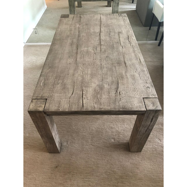Restoration Hardware Reclaimed Russian Oak Parsons Rectangular Dining Table Chairish