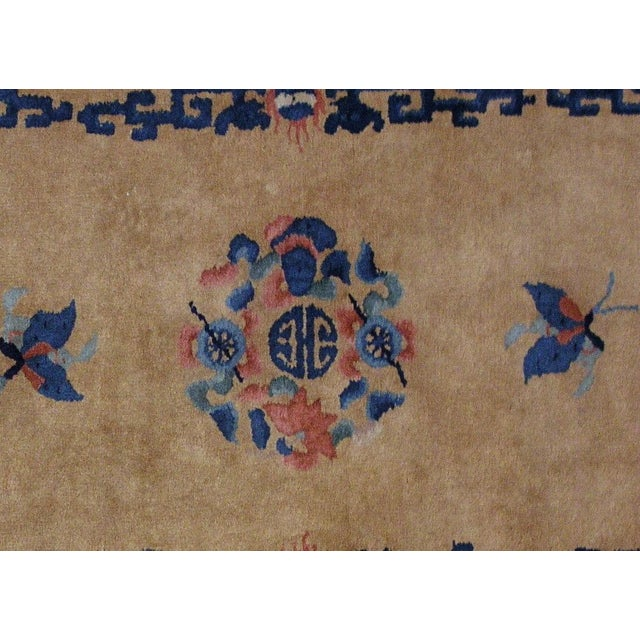 1930s Art Deco Chinese Handmade Rug - 4' X 6' For Sale - Image 5 of 7