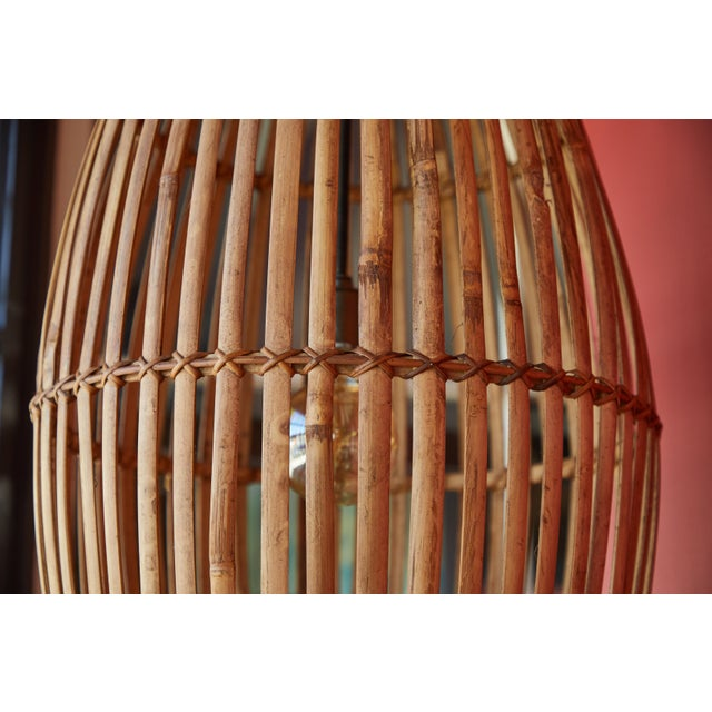Late 20th Century Rattan Hanging Pendant Lamp For Sale - Image 5 of 9