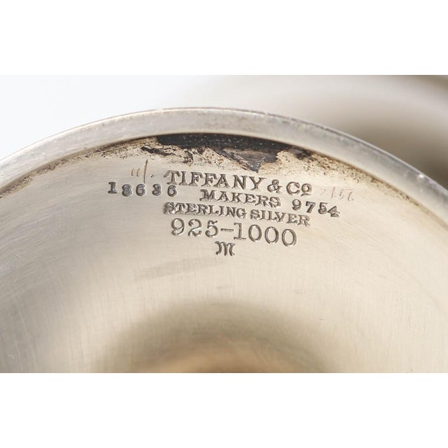 American 1919 Tiffany & Co Sterling Silver Camp Wildwood Tennis Trophy For Sale - Image 3 of 6