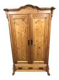 Image of Rustic European Armoires Wardrobes and Linen Presses