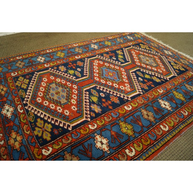 Quality Hand Tied Caucasian Rug - 3′7″ × 5′6″ For Sale - Image 5 of 10