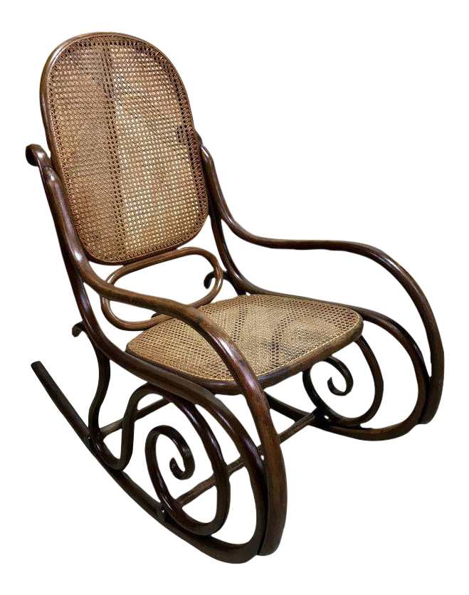 Rocking Chair Or Schaukelstuhl By Gebrüder Thonet