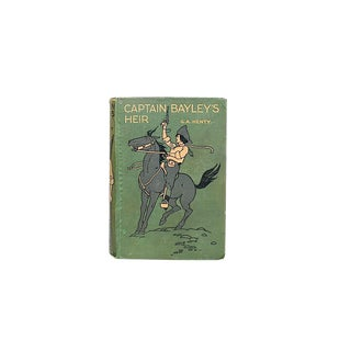Vintage Adventure Book With Decorative Cover For Sale