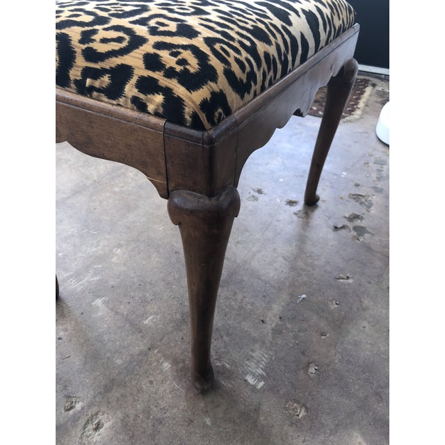 Early 1900s Traditional Leopard Print Low Stool For Sale - Image 6 of 10