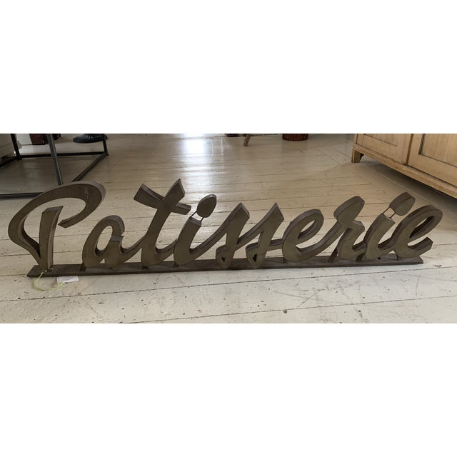 1930s Antique 1930s Metal Patisserie Sign For Sale - Image 5 of 5
