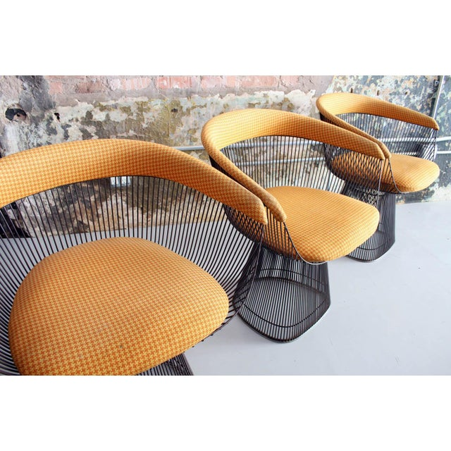 Original Walnut and Bronze Dining Set With 4 Chairs by Warren Platner for Knoll For Sale - Image 12 of 13