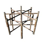 Image of 1990s Boho Chic Large McGuire Octagonal Bamboo and Rattan Dining Table Base For Sale
